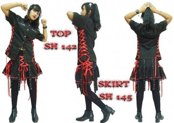Наборы альтернативной одежды оптом, эксклюзивная готическая панк рок одежда оптом из Таиланда