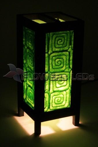 Лампы ночники из дерева и саа бумаги оптом из Тайланда