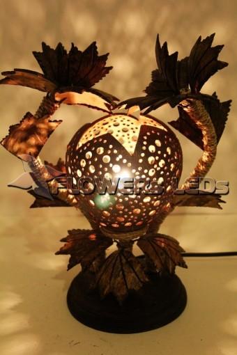 Лампы светильники из кокоса оптом из Тайланда, светильник жираф оптом